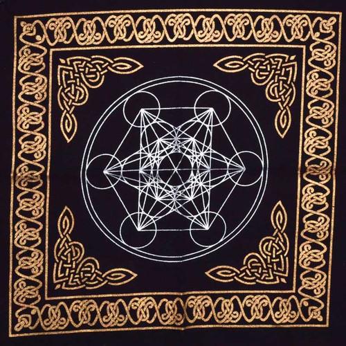 "Sacred Geometry ""Metatron's Cube"" Altar Cloth 45cm"