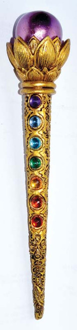 Ball and Chakra Gem Wand 22cm