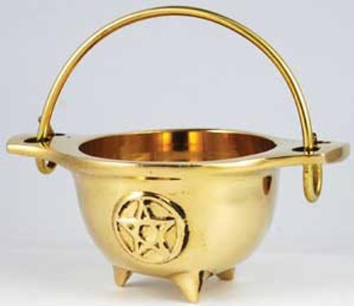 Small Brass Cauldron 4.5cm