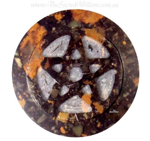 Soapstone Pentagram Altar Tile 7.5cm