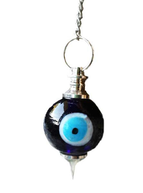 Evil Eye Glass Ball Pendulum 22cm