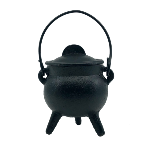 Black Cast Iron Cauldron Small Plain 10cm