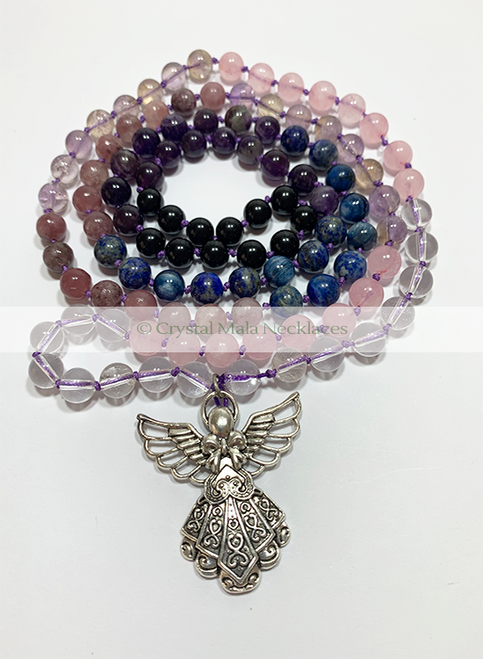 "Crystal Mala Necklace ""Divine Inspiration"" 106cm"