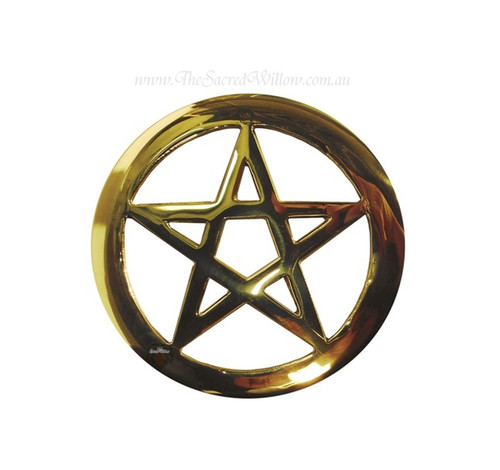 Small Brass Pentagram Altar Tile