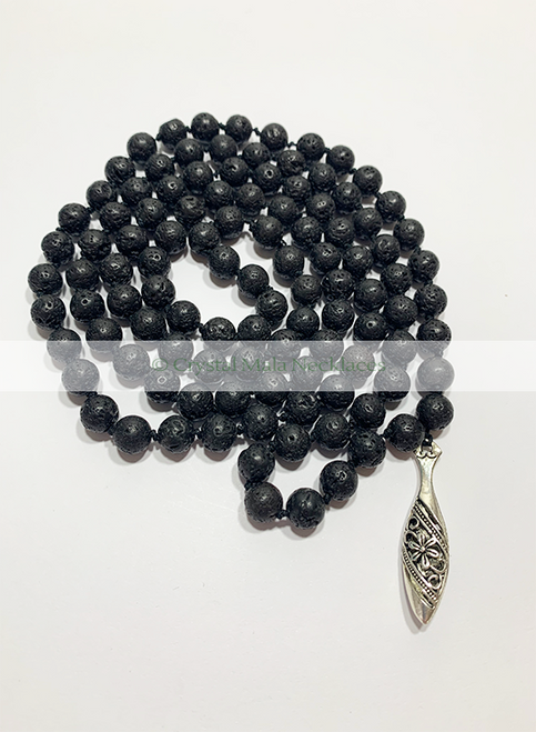 "Crystal Mala Necklace ""Grounded"" 112cm"