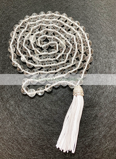 "Crystal Mala Necklace ""Crystal Clear"" 110cm"