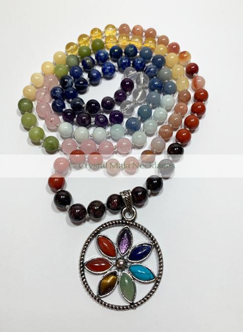 "Crystal Mala Necklace ""Chakra Balancing"" 108cm"