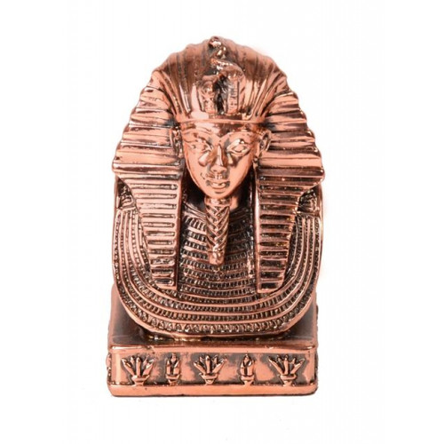 King Tutankhamun Bust Statue Copper Small 8.5cm