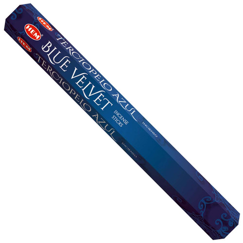 Blue Velvet Hem Incense Sticks 20 gram Hexagonal