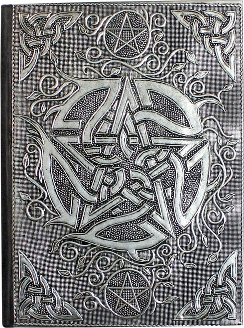 Aluminium Plated Pentacle Spell Book / Journal 18cm x 13cm