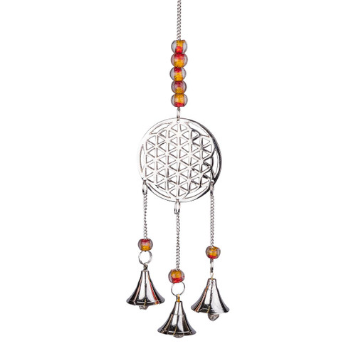 Flower of Life Aluminium Wind Chime 25cm