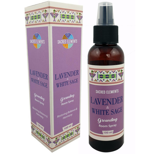 Sacred Elements Lavender and White Sage Room Spray 100ml