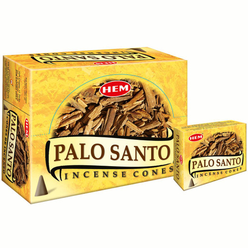 Palo Santo Hem Incense Cones 10 Pack