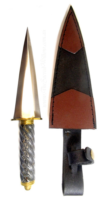 Roman Black Handle Athame / Dagger 10 inch