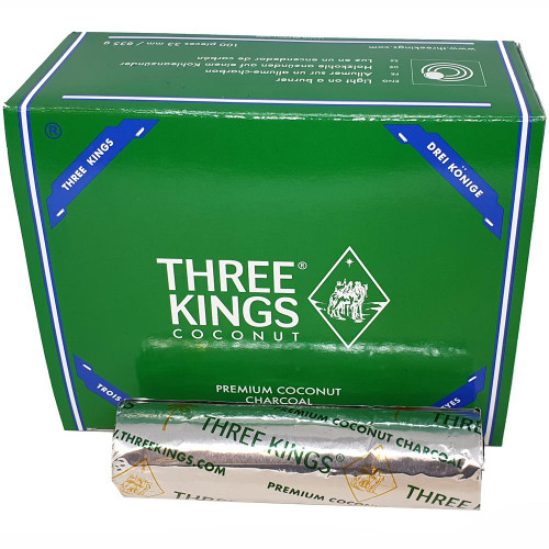 Three Kings 33mm Charcoal Roll Coconut - 10 Tablets - For Incense