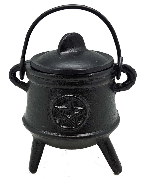 Cast Iron Cauldron Small Pentagram 12.5cm
