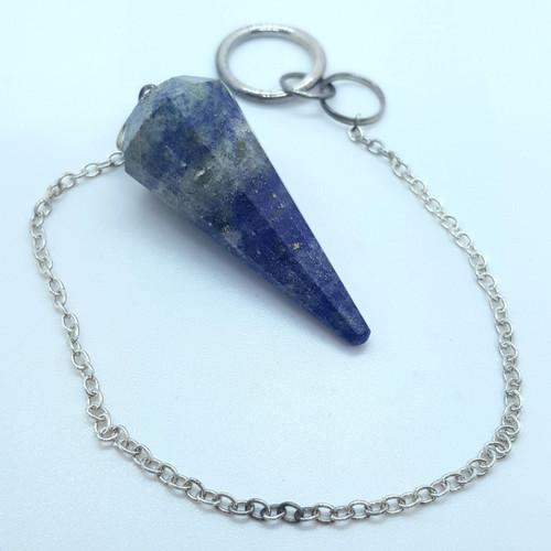 Lapis Lazuli Multi Faceted Pendulum 25cm