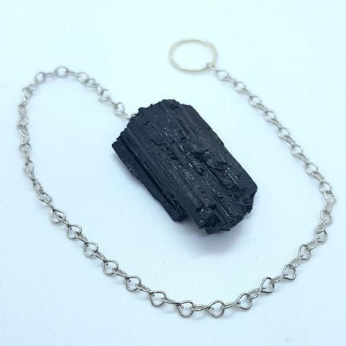 Pendulum Raw Black Tourmaline 24cm