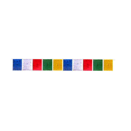 Tibetan Prayer Flags Cotton Medium 19cm x 16cm