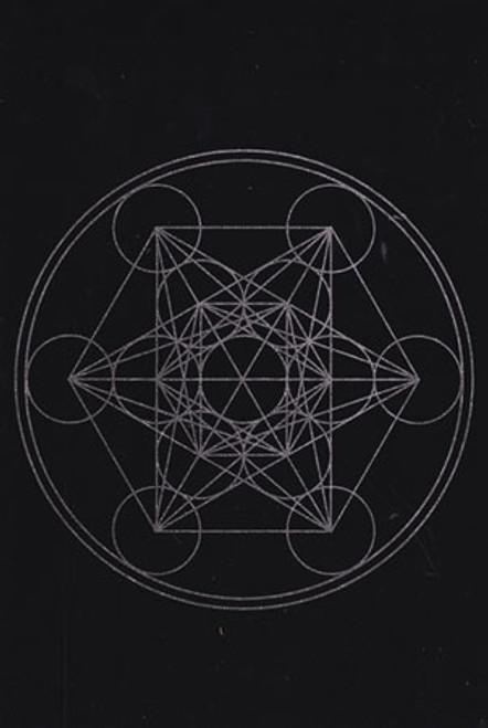 Metatron's Cube Sacred Geometry Pendulum/Gridding Mat 20 x 30cm