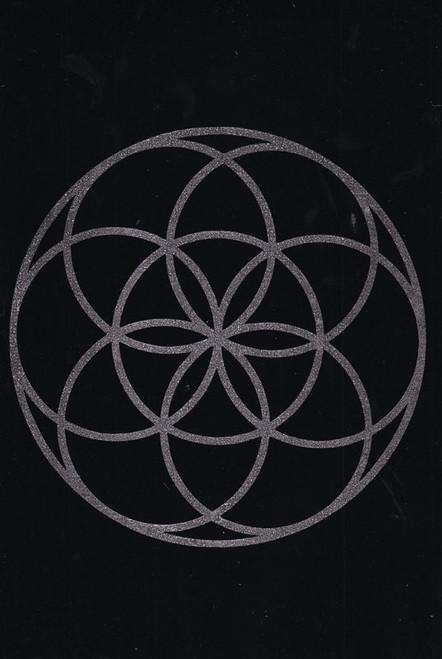 Seed of Life Sacred Geometry Pendulum/Gridding Mat 20 x 30cm