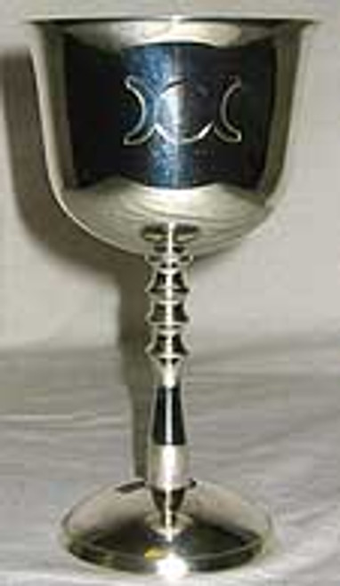 Triple Goddess Nickel Plate Silver Chalice 13.5cm