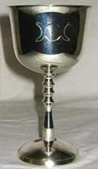 Triple Goddess Nickel Plate Silver Chalice 13.5cm