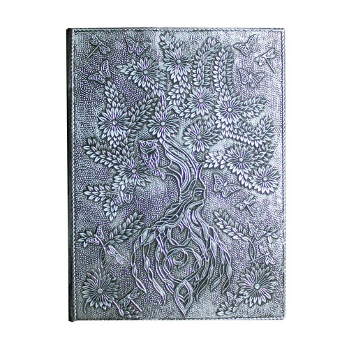 Aluminium Plated Tree of Life Spell Book / Journal 18cm x 13cm