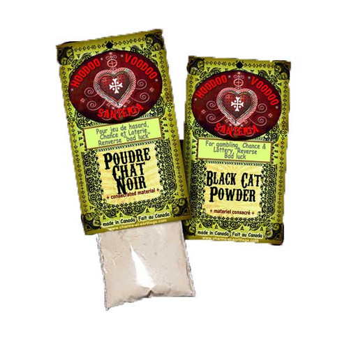 Black Cat Powder Hoodoo Voodoo Santeria Poudre Chat Noir 15g