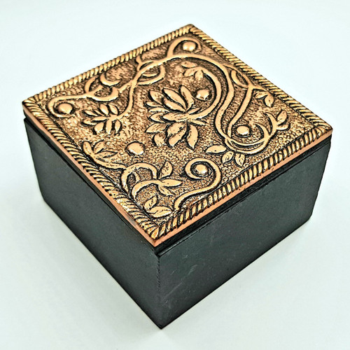 Lotus Copper Trinket Box 5.5cm
