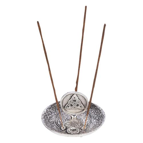 Aluminium Ash Catcher Incense Burner Triquetra 11cm