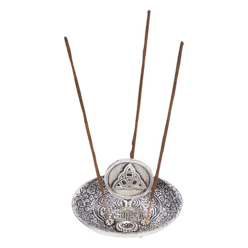 Aluminium Ash Catcher Incense Burner Triquetra 11cm