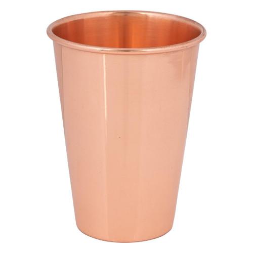 Copper Drinking Glass Plain 10.5cm