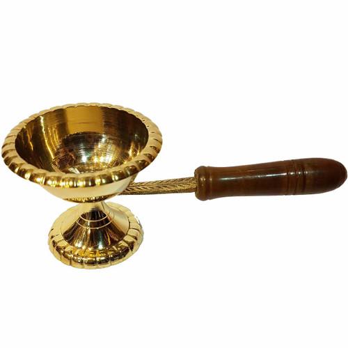 Brass Incense Burner With Handle 6.5cm