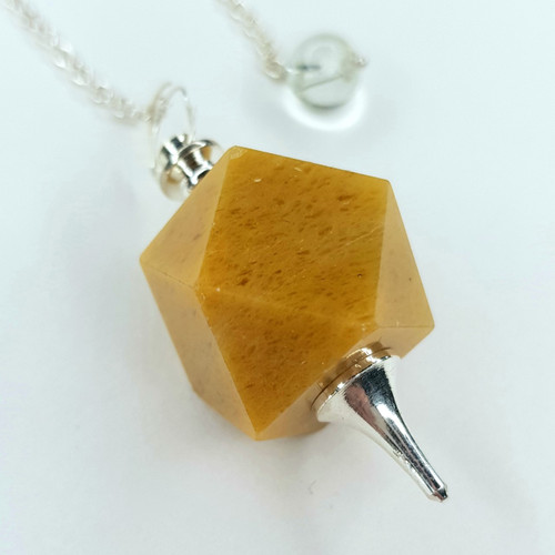 Pendulum 14 Sided Yellow Aventurine 24cm
