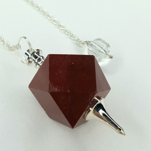Pendulum 14 Sided Red Jasper 23cm