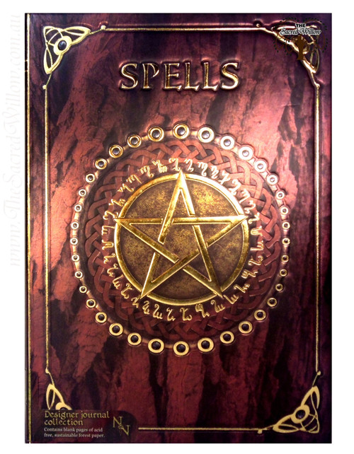 Red Pentagram Spell Book / Journal 15x20cm Luna Lakota