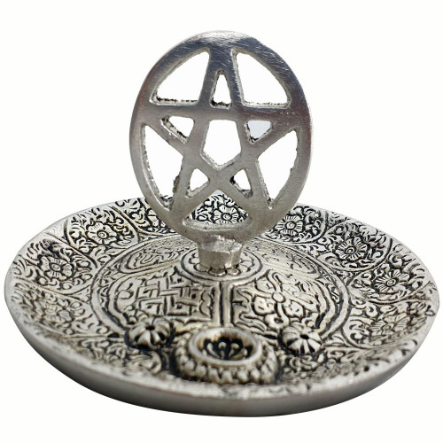 Aluminium Ash Catcher Incense Burner Pentacle 11cm