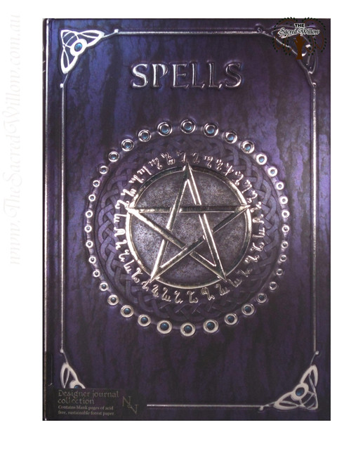 Purple Pentagram Spell Book / Journal 15x20cm Luna Lakota