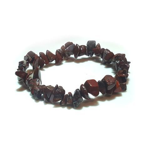 Brecciated Jasper Gemstone Chip Stretch Bracelet