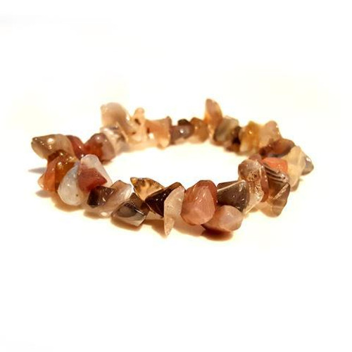 Botswana Agate Gemstone Chip Stretch Bracelet
