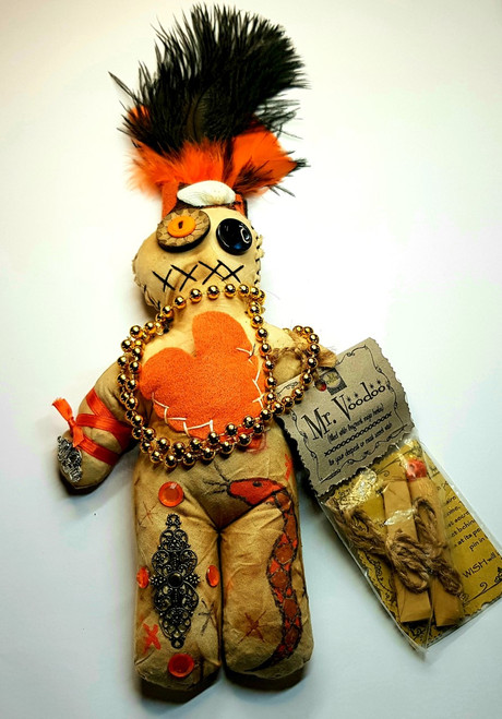 "Voodoo Doll New Orleans Bewitched ""Mr Voodoo"" Large 24cm"