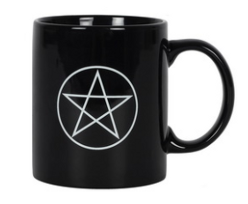 Black Pentacle Ceramic Mug