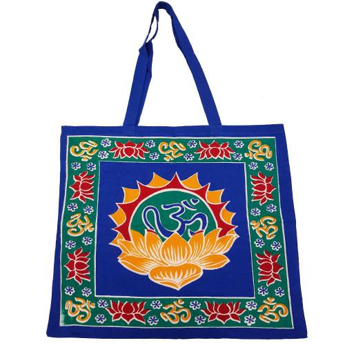 Lotus Tote Bag with Om Symbols
