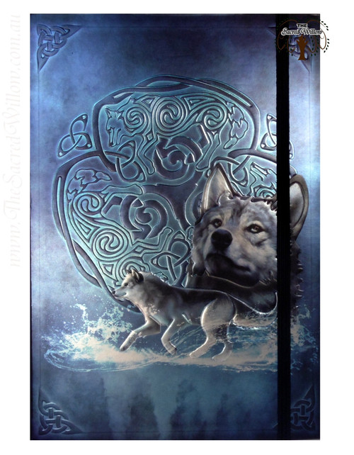 Celtic Wolf Spell Book / Journal with Pen 14.5x21cm