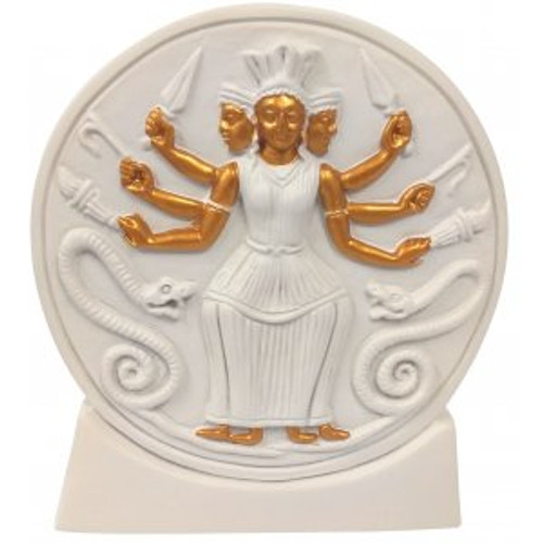 Hecate/Hekate Statue ~ Maiden, Mother and Wise Woman ~ 15.5cm (front)