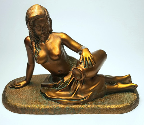 Goddess Coventina Statue ~ Water & Prosperity ~ 11.5cm (front)