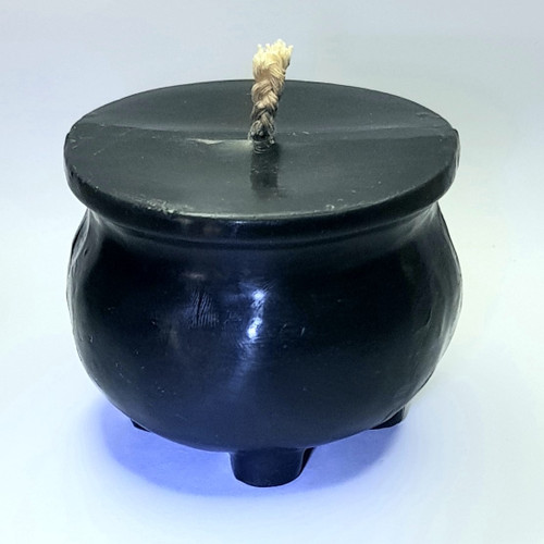 Black Cauldron Figure Candle Handmade Beeswax - 6.5cm