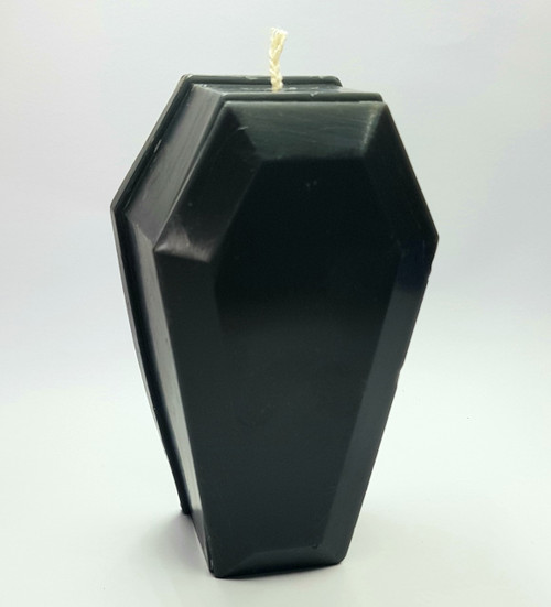 Black Coffin Figure Candle Handmade Beeswax - 12cm