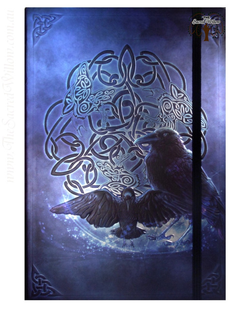 Celtic Raven Spell Book / Journal with Pen 14.5x21cm